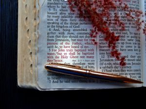 A opened bible