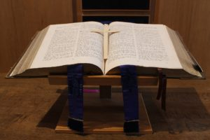 A bible opened