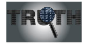 the word truth with magnifying glass