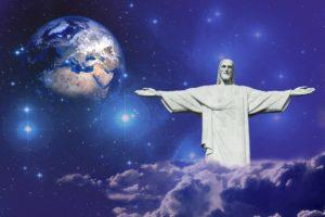 Jesus spreading His arms