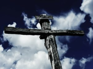 An old wooden cross